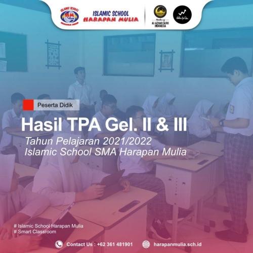 Hasil TPA Gelombang II & III – SMA