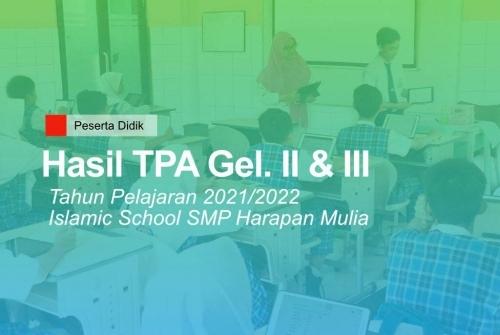 TPA Gelombang II & III – SMP